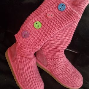 💟 UGGS Knit button boots